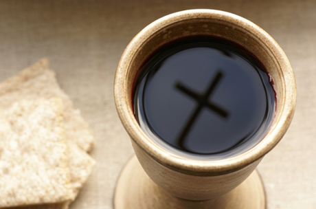 Holy Communion cross in cup